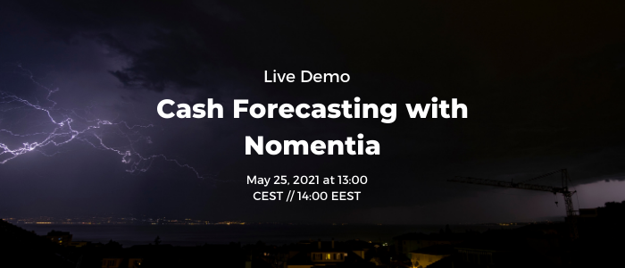 Cash Forecasting live demo Email